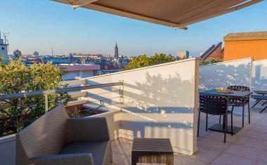Décor pour votre tournage : terrasse panoramique Mercure Toulouse Centre Saint-Georges