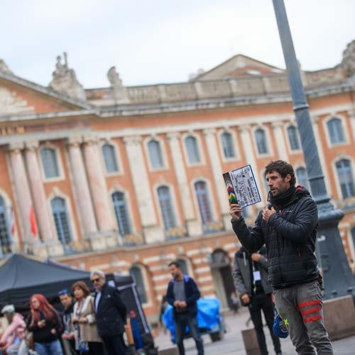 Tournage d'un film à Toulouse